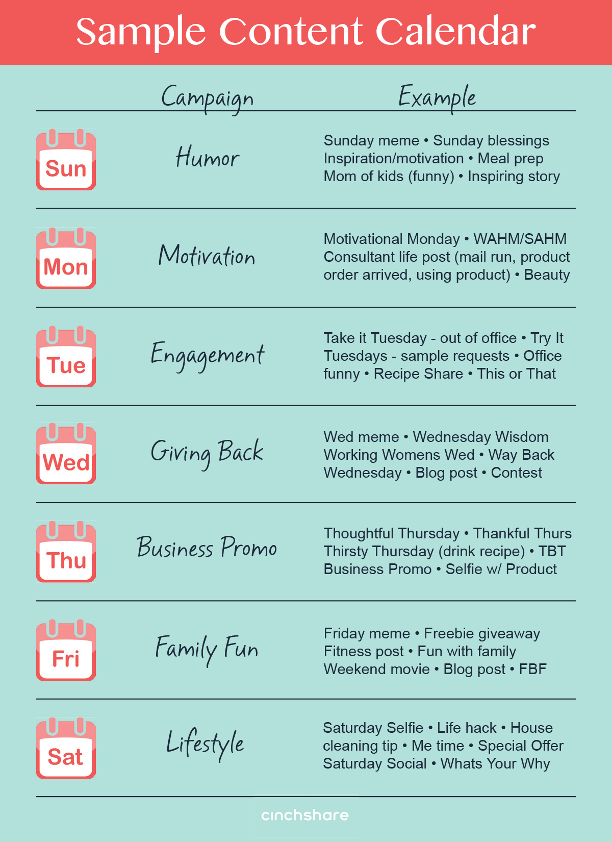 Save time and reduce stress with a content calendar for Social media posting calendar template