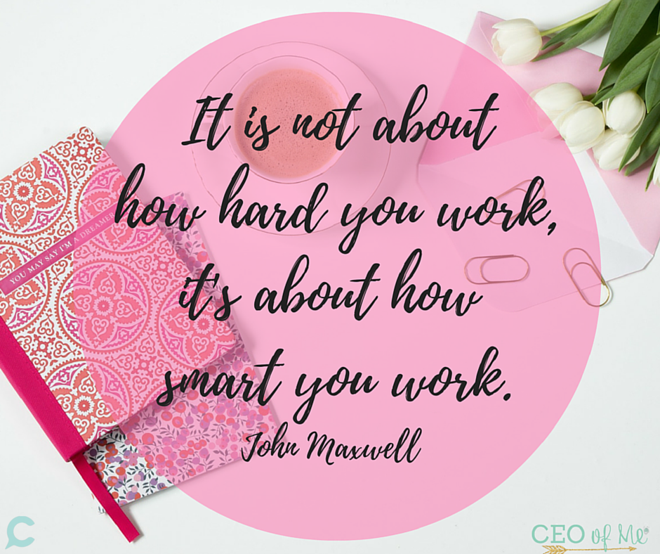 its not about how hard you work